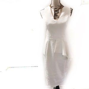 ASOS peplum ivory dress